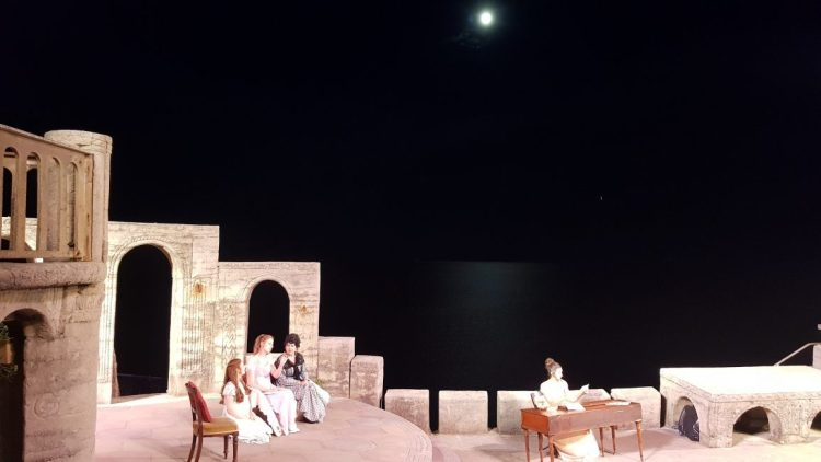 The night draws in at the Minack theatre