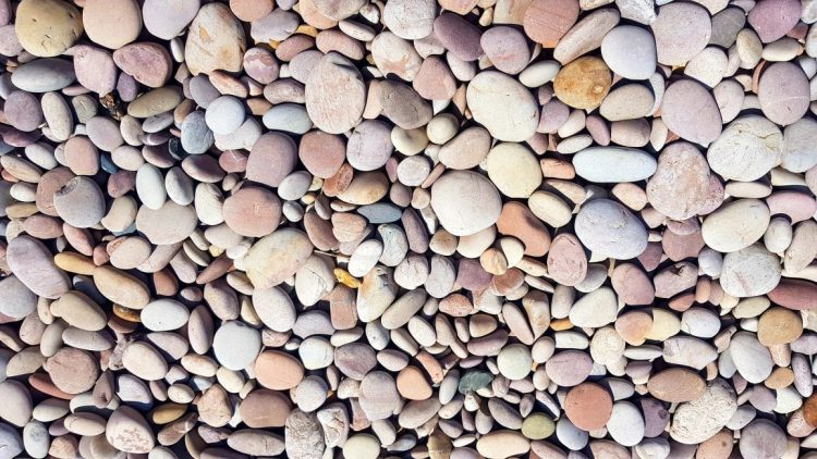 Multi-coloured pebbles at Budleigh Salterton