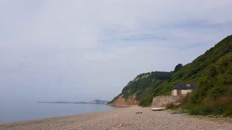 The beach at Weston Mouth