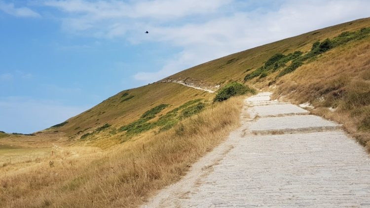 The path from Durdle Door to Lulworth