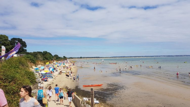 A busy Sunday at Studland Bay