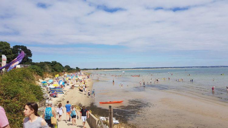 A busy Sunday at Studland Bay