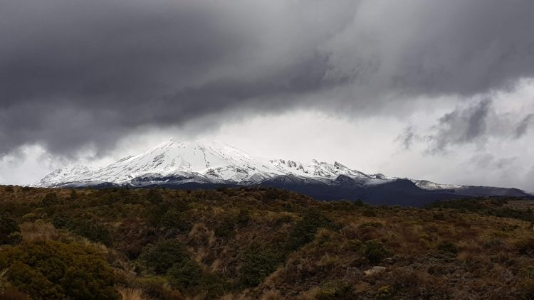 Impending storm at Mount Ruapehu
