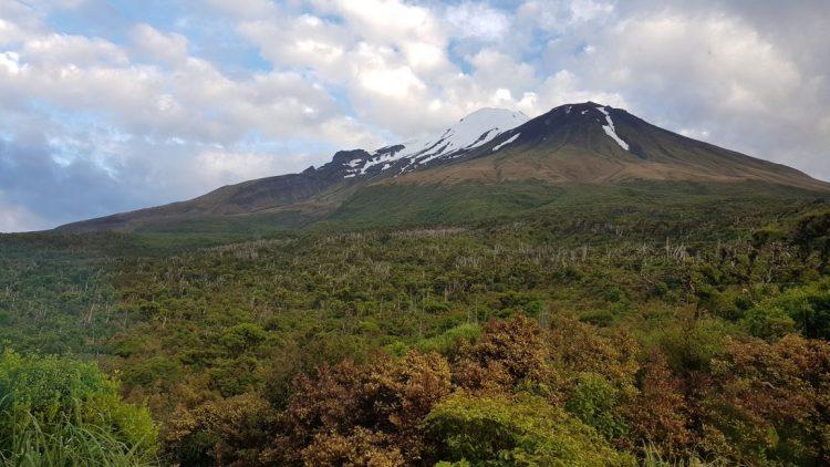 Mount Taranaki from Lake Dive hut