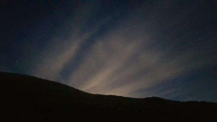 Last of the moonlight from Slaty hut