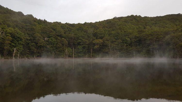 Misty morning at Tarn hut
