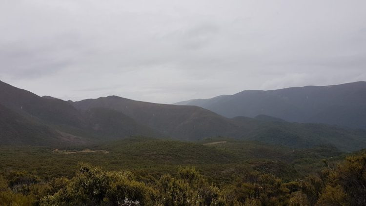 Porters hut in the distance