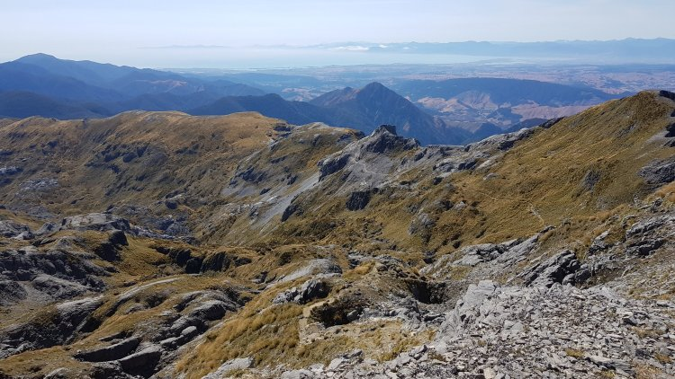 Incredible views across to Tasman Bay