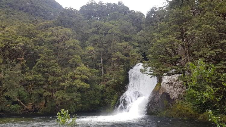 Waterfalls near Iris Burn hut