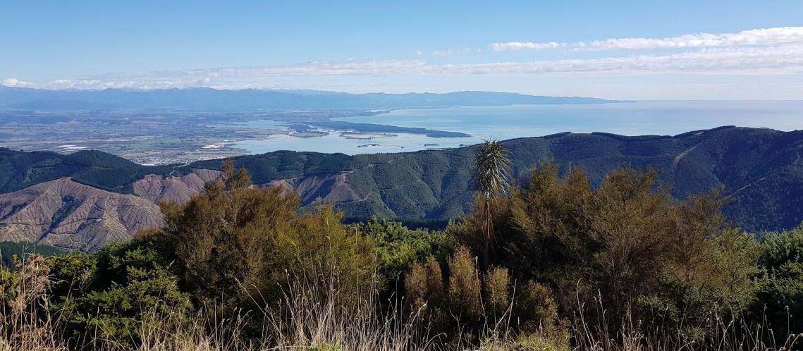 View across the Tasman from Mount Malita