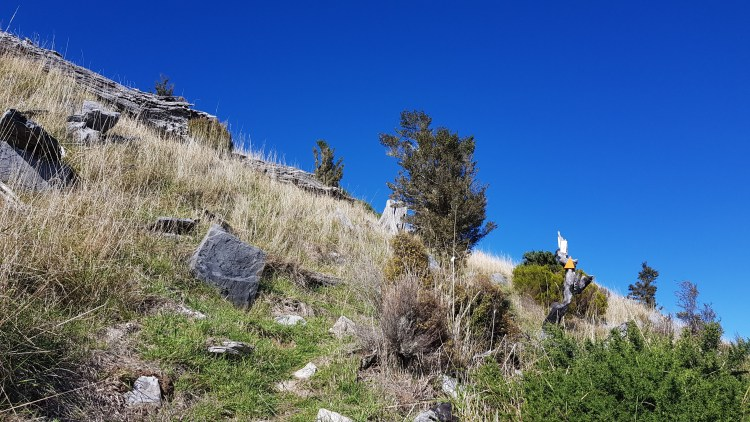 Interesting rock formations towards the summit of Mount Malita