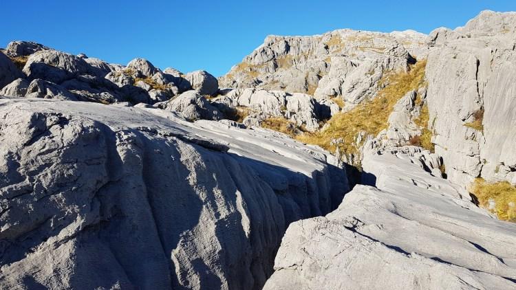 Rock slabs at Mount Owen