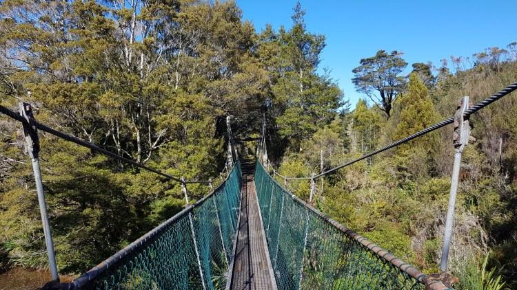 A couple of bridge crossings over small creeks on the Charming Creek Walkway