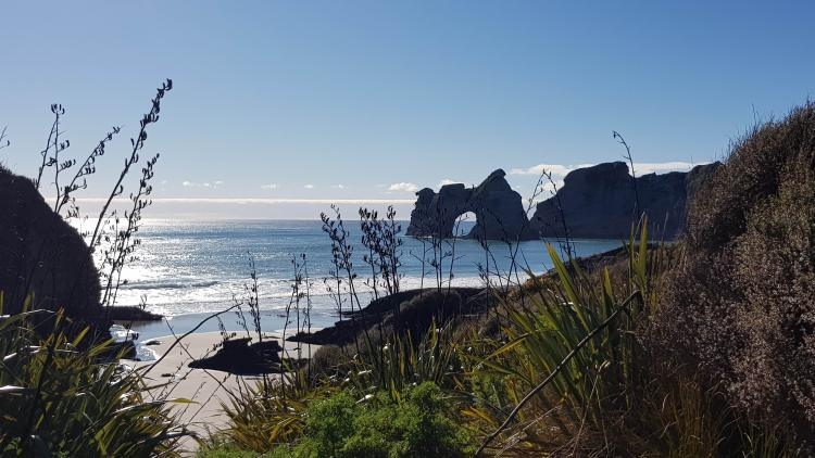 Wharariki Beach and the Archway Islands