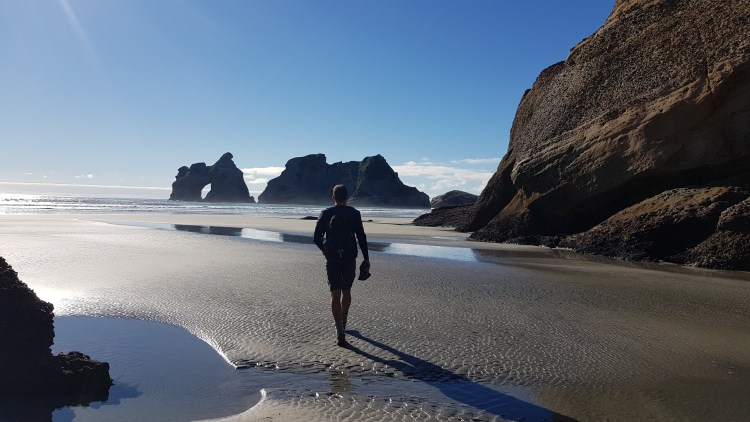 Low tide on Wharariki Beach