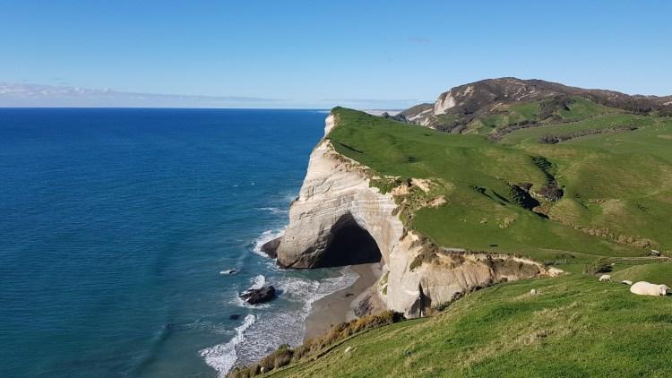 Cliff arches at Cape Farewell