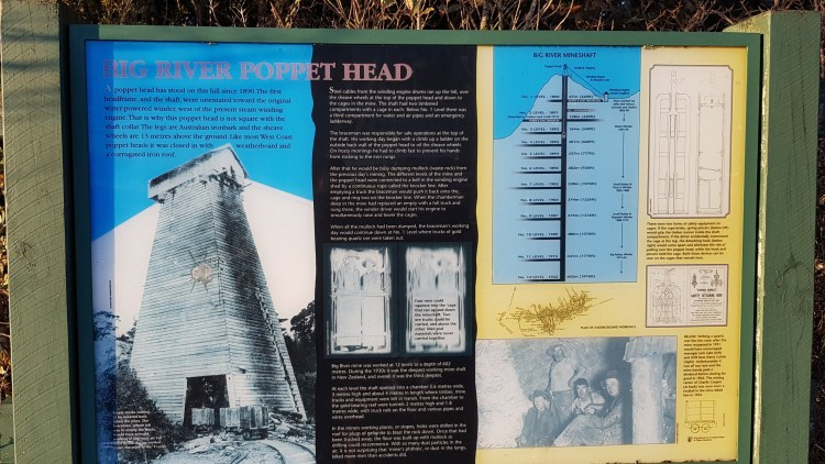 Info about the Poppet Head at Big River mine
