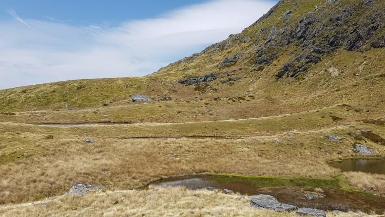 The tarns below Mt Cobb