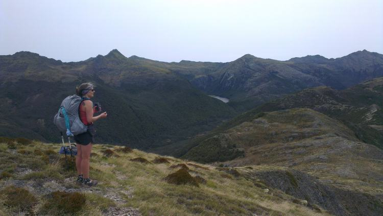 Contemplating our final few Kms on the Lockett Range