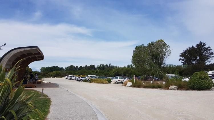 Abel Tasman car park at Marahau
