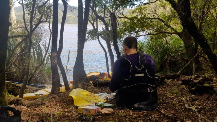 Lunch in the forest on Lake Otuhie