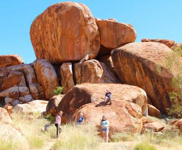 Devils marbles with kids