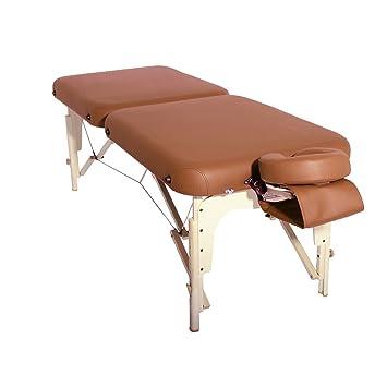 lit table de massage table de massge madrid 71 cm bois marron promafit sfbdjgjkfnh