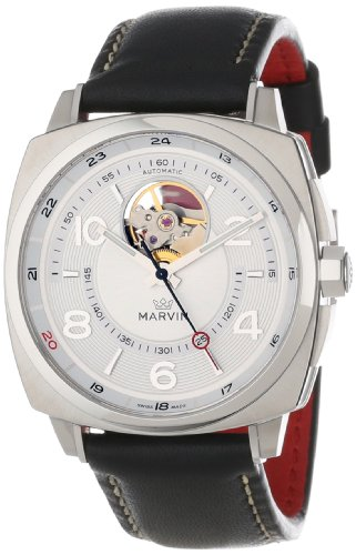 Marvin Men s M119.13.38.84 Malton 160 Cushion Automatic Open Heart Silver  Dial and 4b701f0230