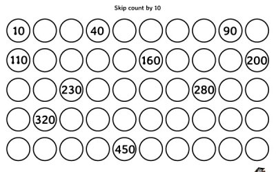 Free Printable Skip Counting By 10 Worksheet