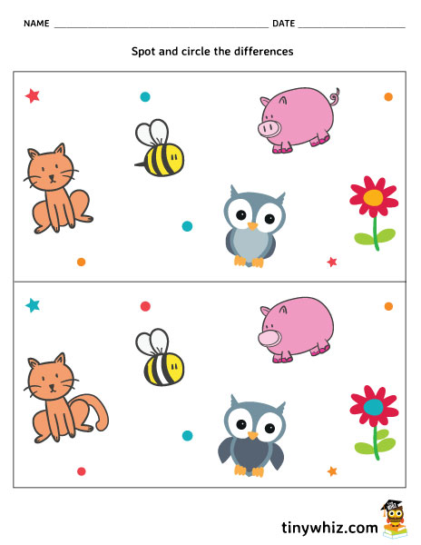 This is a picture of Spot the Difference Pictures Printable inside wedding
