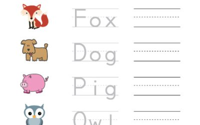 Free Printable Trace And Write 3 Letter Words
