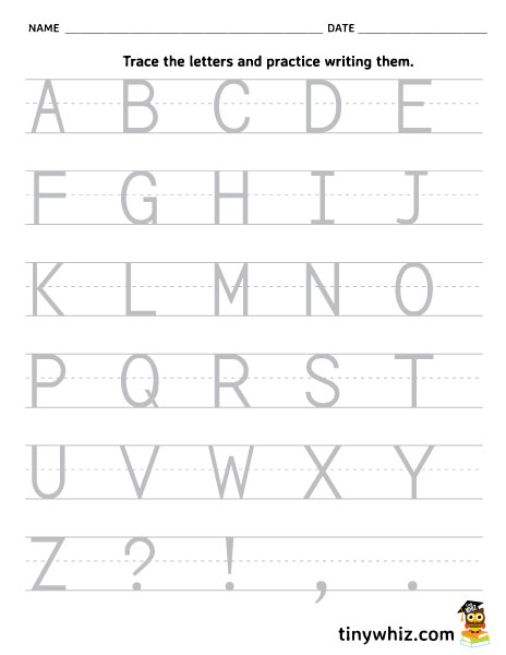 Kindergarten Capital Letters Worksheet