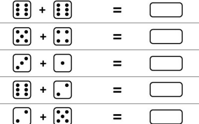 Free Printable Math Worksheet Add Dice