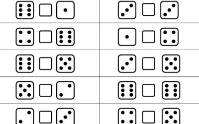 Free Printable Dice Math Worksheet Less Than More Than Equal To