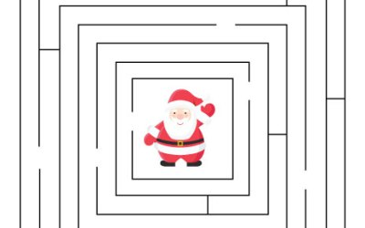 Free Printable Christmas Maze Worksheet For Kids