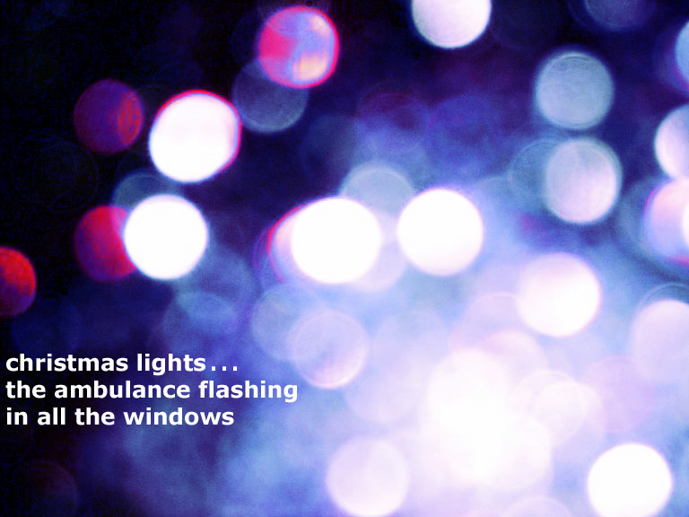 Christmas Lights haiga by David Serjeant