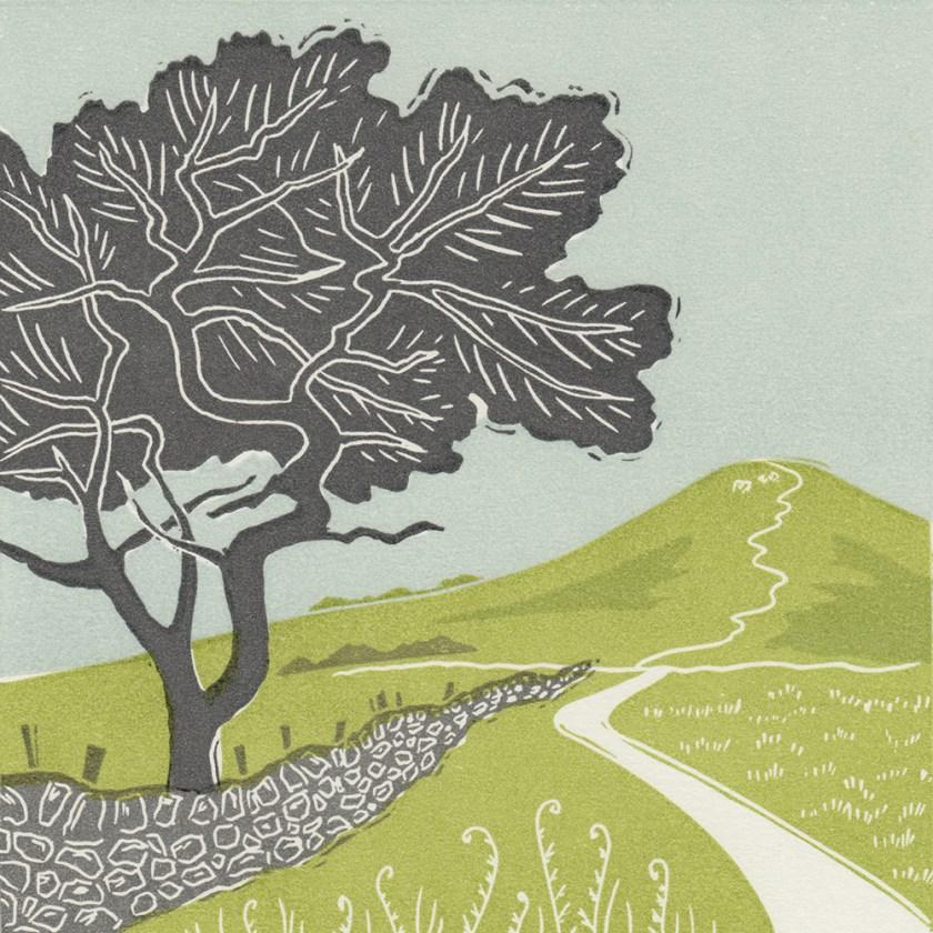 Michelle-Hughes-Towards-Roseberry-Topping-linocut-print-s