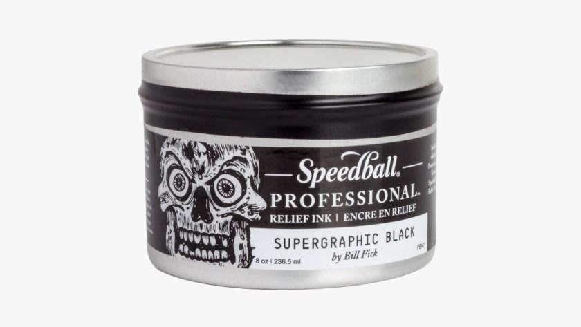 Speedball professional relief ink black