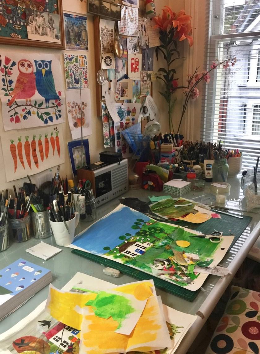 Tracey English art studio 3