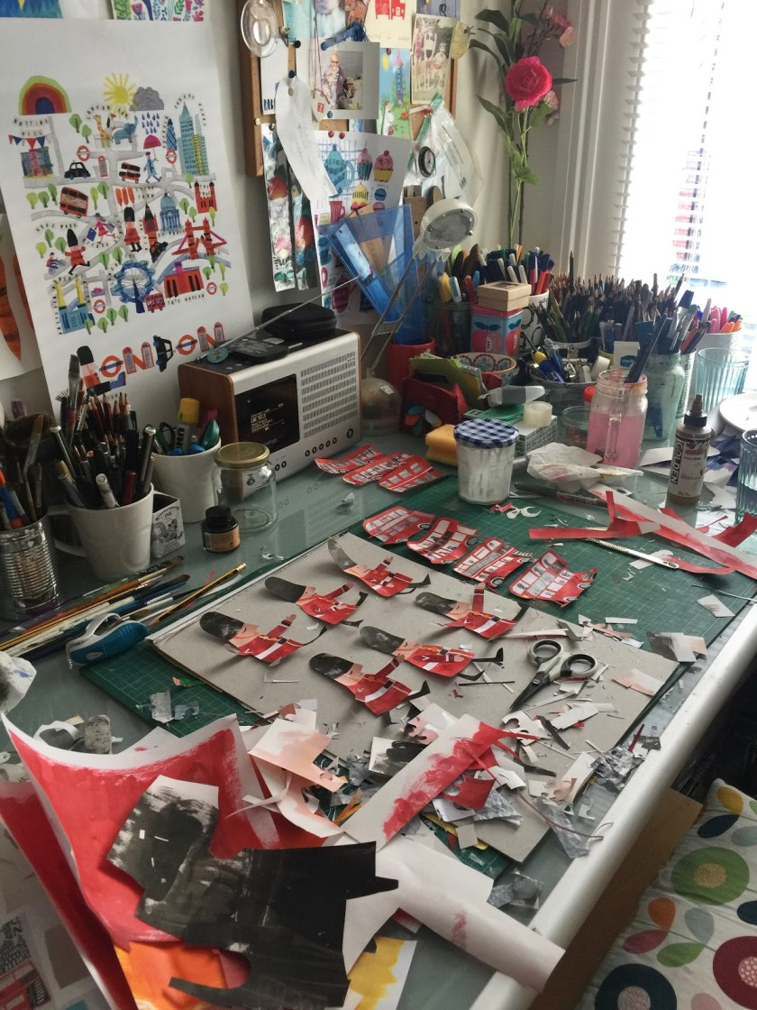 Tracey English art studio