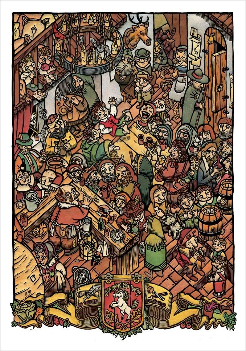 Tomas Hijo Prancing Pony Tolkien print