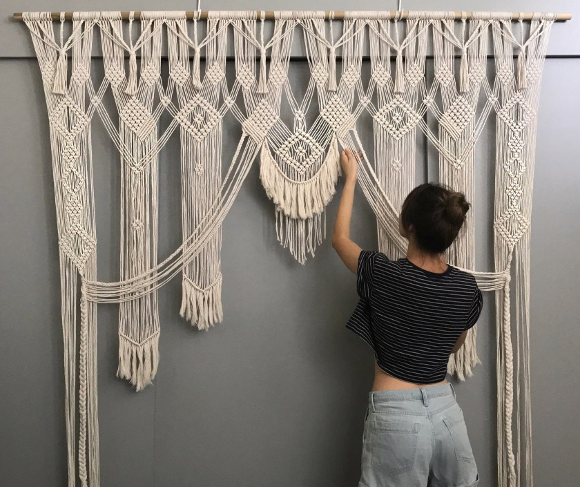 Alisha Ing iWouldRatherKnot macrame curtain