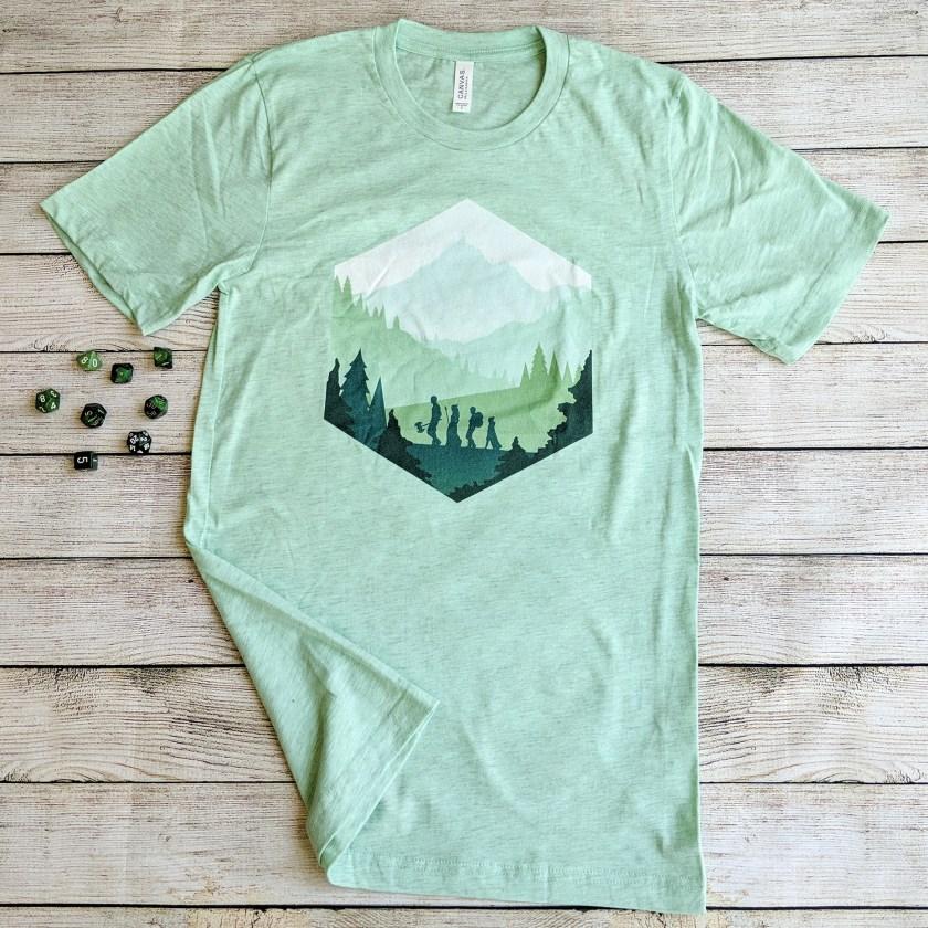 Paola's Pixels Adventure D20 shirt