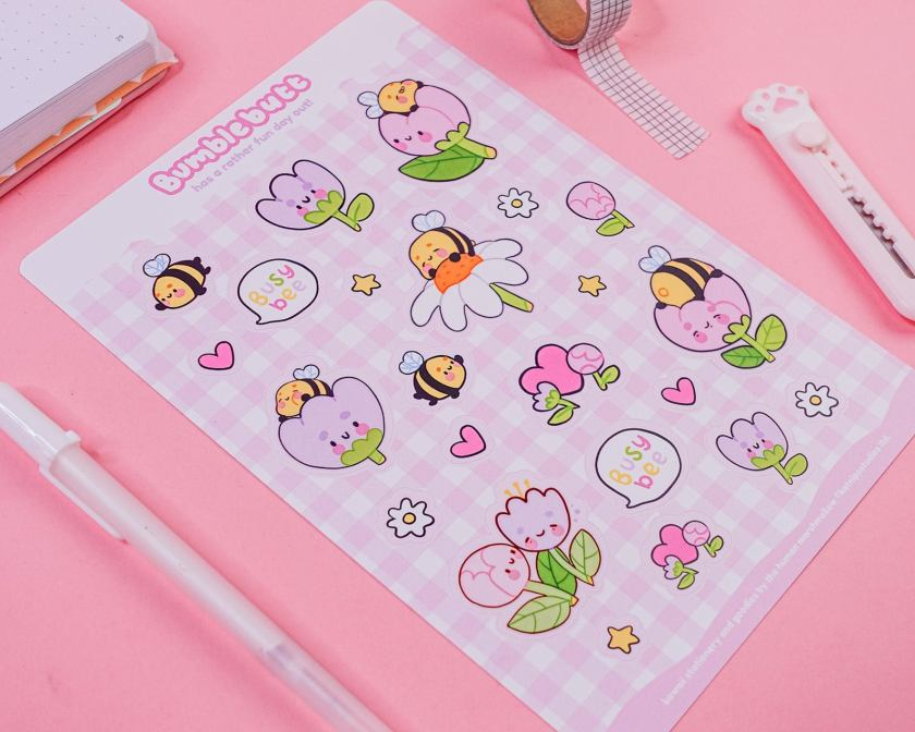 Catherine Kay Katnipp bumblebutt stickers