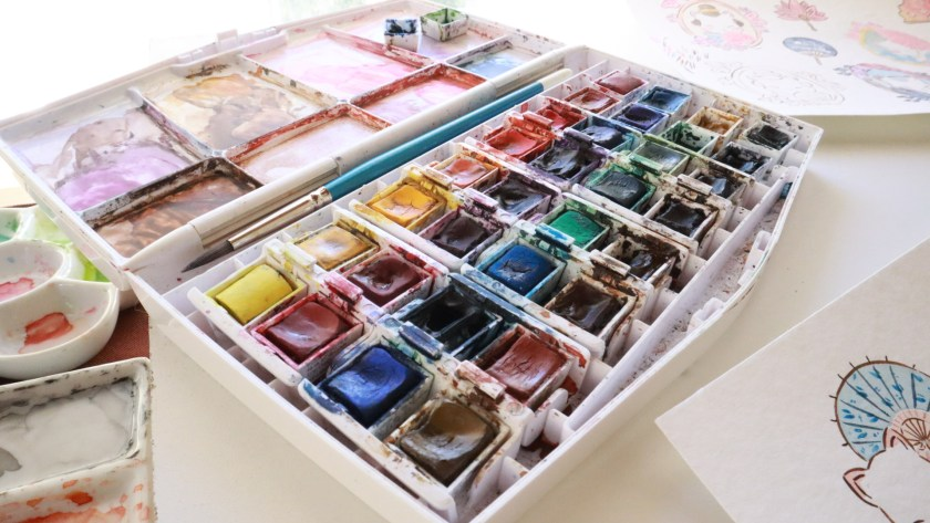 Flor Kaneshiro watercolor set