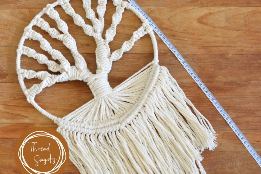 ThreadSagelyHome macrame tree of life wall hanging