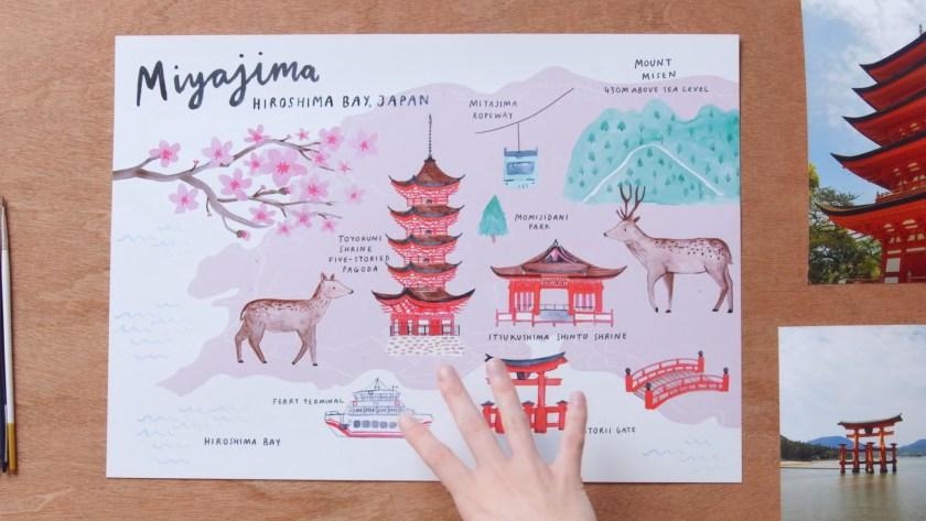 Illustrated map creation course Domestika