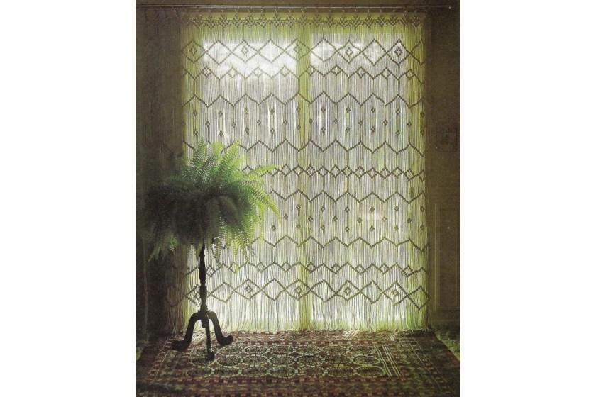 Macrame curtain pattern cute pattern shop