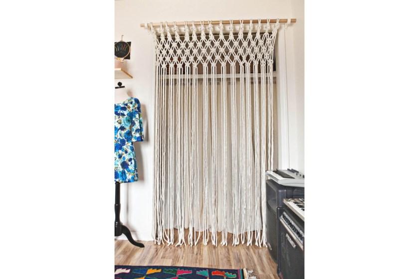 Macrame door curtain A Beautiful Mess