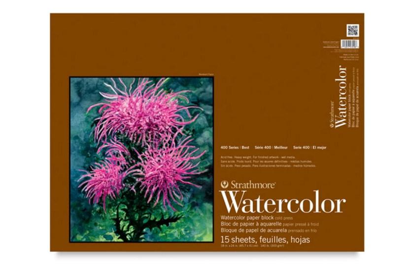 Strathmore 400 watercolor paper block